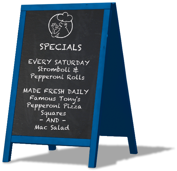 Chalkboard Specials - Daily - Saturday