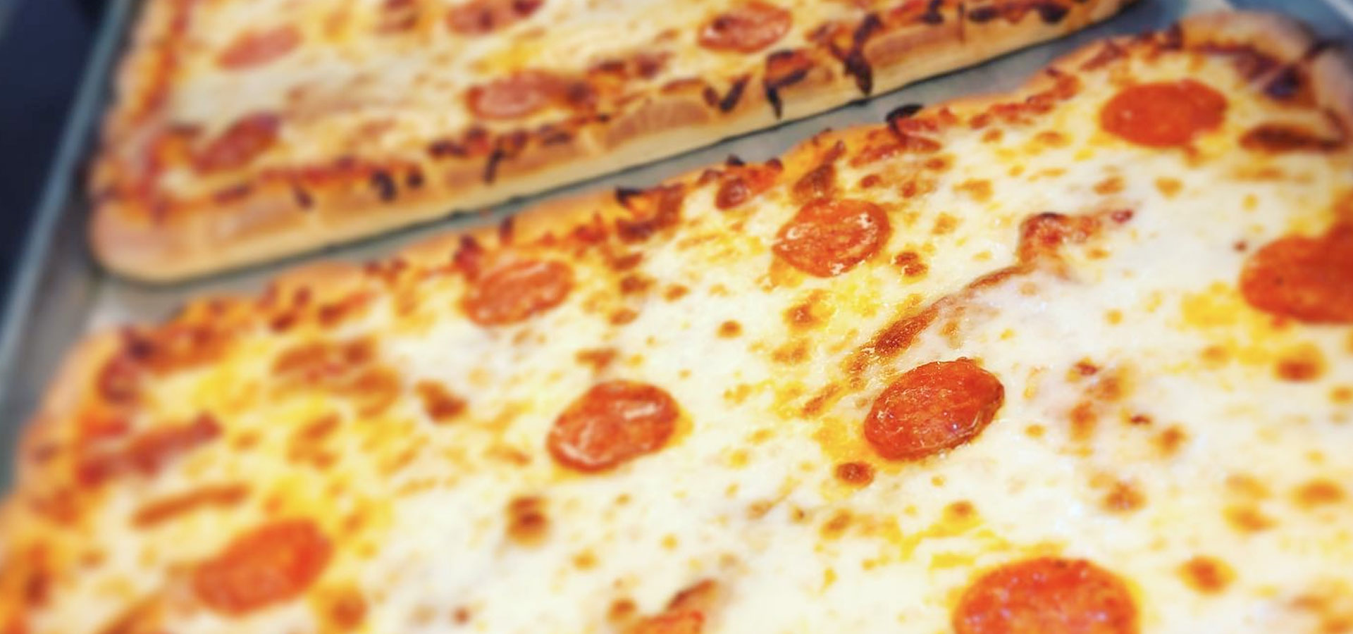 Tony's Famous Pepperoni Pizza fresh out of the oven